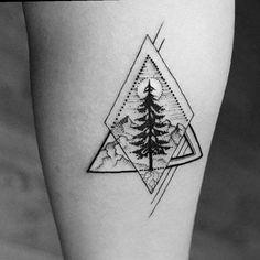 geometrik ağaç dövmesi geometric tree tattoo 2
