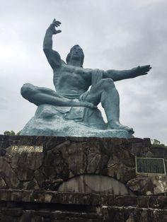 平和祈念像 (Nagasaki Peace Statue) in 長崎市, 長崎県