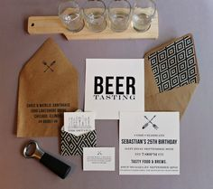 mint love social club: {manly beer tasting party invitations + free printables}