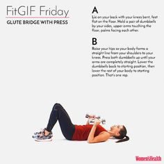 This Move Will Help You Hit Those Booty Goals  http://www.womenshealthmag.com/fitness/fitgif-glute-bridge-with-press