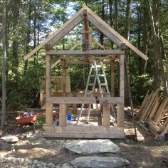 Pallet Greenhouse, Gazebo, Outdoor Structures, Cabin, House Styles, Home Decor, Homemade Home Decor, Kiosk, Interior Design