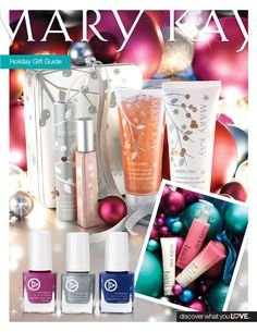 Christmas Gift Guide -gifts for everyone on your list.   Browse and shop online or by phone.  Check out my website @ www.marykay.com/cheryllroberson       Wishing you a Merry Christmas!