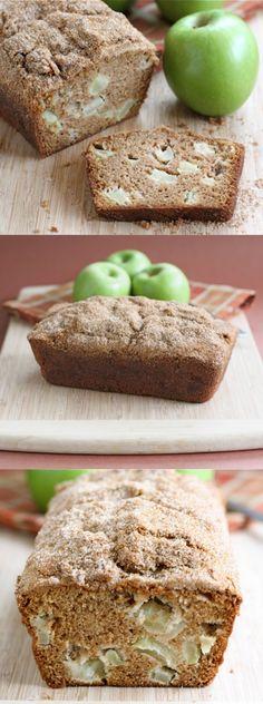 Apple Cinnamon Bread Recipe on twopeasandtheirpod.com This easy bread recipe is a must make for fall! #apple #bread