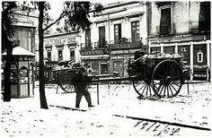 Avda de la Repùblica (centro de Almeria) duante la Guerra Civil en Almeria