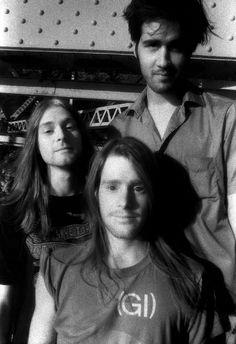 Kurt Cobain, Chad Channing and Krist Novoselic #Nirvana - November 1988