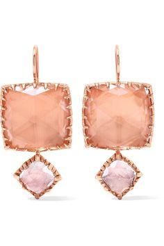 Convertible Sadie Rose Gold-dipped Quartz Earrings - one size Larkspur & Hawk cv1x7