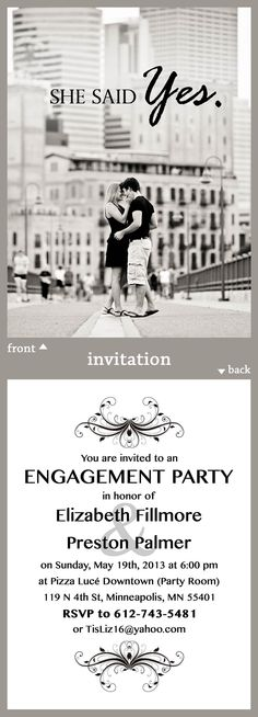 Engagement Party Invitation | BROVADO