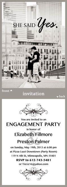 Engagement Party Invitation | BROVADO