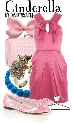 Cinderella by disneybound Cinderella Pink Dress, Disney Dress Up, Disney Clothes, Disney Themed Outfits, Disney Bound Outfits, Disneyland Outfits, Pink Outfits, Cute Outfits, Disney Inspired Fashion