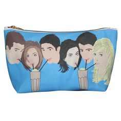 FRIENDS tv show makeup bag lil' purse... original illustration (28.00 USD) by kayciwheatley