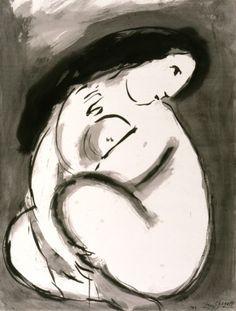 """Nu"" - Marc Chagall, 1949"