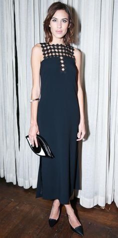 Look of the Day - February 13, 2015 - Alexa Chung in Edun from #InStyle
