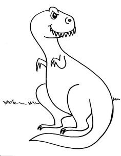 Free dinosaur templates found this outline of a dinosaur for Dinosaur outline coloring pages
