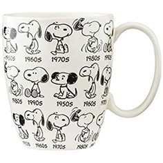 Amazon.com: Peanuts Anniversary Snoopy Mug: D56 Peanuts: Home & Kitchen