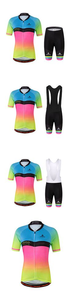 Jersey and Pant Short Sets 177852: Women S Fluorescent Cycling Jersey Kit Reflective Bike Shirts And (Bib) Shorts Set -> BUY IT NOW ONLY: $30.39 on eBay!