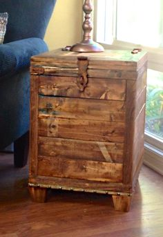 Ana White   Build a DIY Trunk Side Table   Free and Easy DIY Project and Furniture Plans