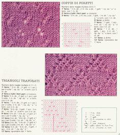 ABC DELLA MAGLIA - PUNTI TRAFORATI ');//--> ');//--> ');//--> ');//--> ');//--> ');//--> ');//--> ');//--> Knitting Stitches, Knitting Patterns, Shag Rug, Kids Rugs, Diy Crafts, Hobby, Dots, Cross Stitch, Knit Patterns