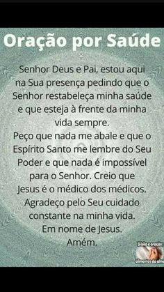 Oração Jesus Prayer, God Jesus, Spiritual Enlightenment, Spiritual Quotes, Catholic Prayers, Life Words, Good Energy, Reiki, Religion