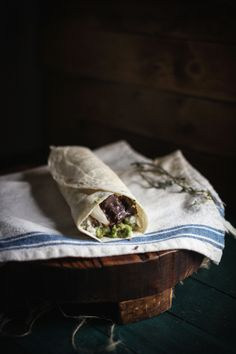 Lamb Burritos with Lemon-Oregano Rice & Homemade Tzitziki | Adventures in Cooking