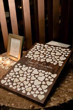 Great way to save signatures from wedding cards. #cards #keepsake #wedding