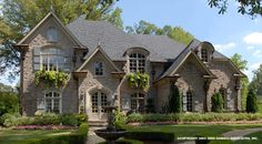 Wilshire Westminster House Plan # 04334, Front Elevation, French Country Style House Plans, Luxury House Plans, Estate Size House Plans