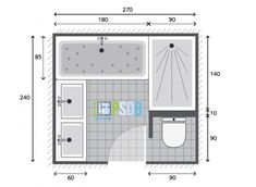 Plan plan salle de bain 6 mod le et exemple d am nagement is one of images from plan de salle de bain. Find more plan de salle de bain images like this one in this gallery Small Bathroom Layout, Bathroom Design Layout, Bathroom Design Luxury, Modern Bathroom Decor, Bathroom Assessories, Bathroom Floor Plans, Toilet Design, Upstairs Bathrooms, Room Planning