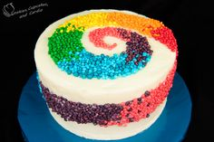 Rainbow Nerds Candy Cake ~ Cookies, Cupcakes, and Cardio