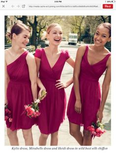 Our wild beet bridesmaid dresses