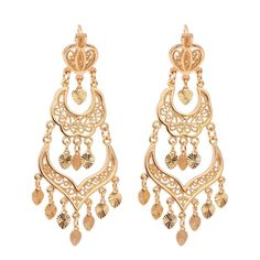 Cheap dangle long earrings, Buy Quality long drop earrings directly from China long earrings Suppliers: Gold Color Chandelier Filigree Heart Bohemian Big Drop Dangle Long Earrings For Women Wedding Jewelry Aros Pendientes Colgantes Jewelry Design Earrings, Necklace Designs, Fashion Earrings, Women's Earrings, Fashion Jewelry, Chandelier Earrings, Wedding Earrings, Wedding Jewelry, Indian Jewelry Sets