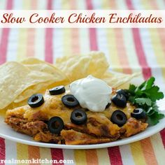 Slow Cooker Chicken Enchiladas – Real Mom Kitchen