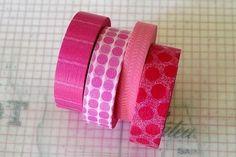 Japanese Masking Tape PINK Polka Dots Stripes by PrettyTape, $15.00