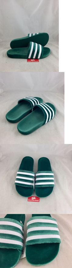 3f7b6209a Sandals 11504  New Mens Adidas Originals Velvet Adilette Green White By9907 Sandals  Slides C1 -  BUY IT NOW ONLY   54.99 on  eBay  sandals  adidas ...