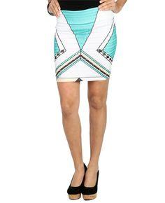 Geo Print Bodycon Skirt - Skirts