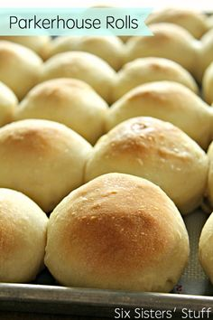 Parkerhouse Rolls on SixSistersStuff.com - an easy recipe for homemade rolls!