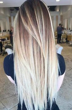 9 Drugstore Hair Products Celebrity Stylists Actually Use - Hair - Hair Styles Ombre Hair Color, Straight Hairstyles, Blonde Hairstyles, Long Haircuts, Summer Hairstyles, Amazing Hairstyles, Long Hair Cuts Straight, Top Hairstyles, Blonde Straight Hair