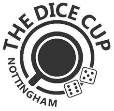 The Dice Cup, an alternative flat logo, in Nottingham, UK