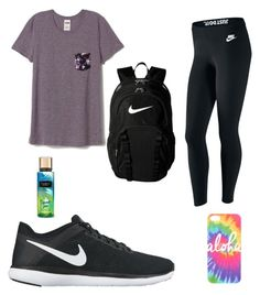 7th grade by kaileyknaak on Polyvore featuring polyvore fashion style NIKE Victoria's Secret clothing