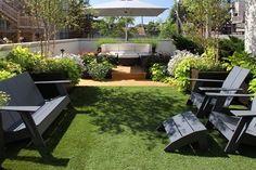Back patio; like the amount of flowers/green around it plus its little step  Don Maldonado @ Chicago Green Design
