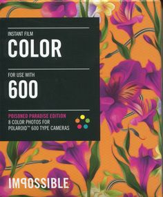 """Color Instant Film for 600 - Poisoned Paradise Edition - Fuchsia by """"The Impossible Project"""""""