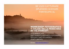 Workshop di fotografia di paesaggio in Val d'Orcia 11-12 Aprile 2015 - I colori della primavera in Val d'Orcia @ San Quirico d'Orcia - 10-Aprile https://www.evensi.com/workshop-di-fotografia-di-paesaggio-in-val-dorcia-11-12/141939249