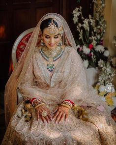 Blush Pink Sabyasachi wedding lehenga for Sikh wedding. Sabyasachi Wedding Lehenga, Bridal Dupatta, Wedding Lehnga, Indian Wedding Bride, Sikh Bride, Indian Bridal Lehenga, Punjabi Bride, Desi Wedding, Lehenga Choli