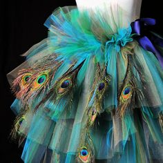 Peacock Feather Dance Costumes | Peacock Feather Bustle TutuHalloween Costume | Tutu Cute Costumes