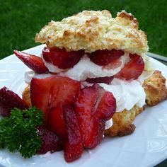 """Buttermilk Strawberry Shortcake 