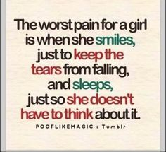The worst pain for a girl...