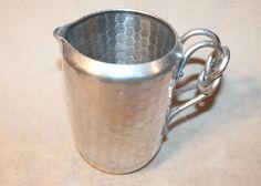 SWEET Vintage World Hand Forged Hammered Aluminum Pitcher Beer Water in Collectibles, Kitchen & Home, Kitchenware | eBay
