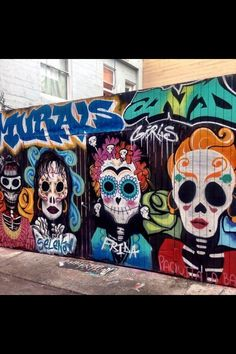 oooh! I want this on my barn :) tags: street art, graffiti, dios de los muertos, mural, painting, public art,