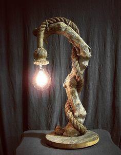 Treibholz Lampe natürliche Seil Schnur von TheDriftwoodMan Mehr