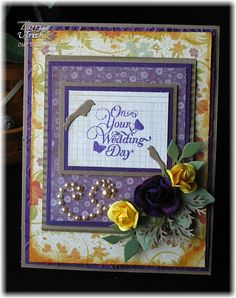 Created with Our Daily Bread Designs' To the Lovebirds clear stamp set and Spellbinders for ODBD Custom Birdcage & Banner Die