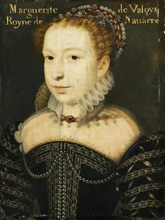 Marguerite de France, Marguerite de Valois, (1553-1615), Queen of France at the age of 19 by Francois Clouet