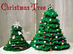 Assorted christmas-tree (free) crochet patterns